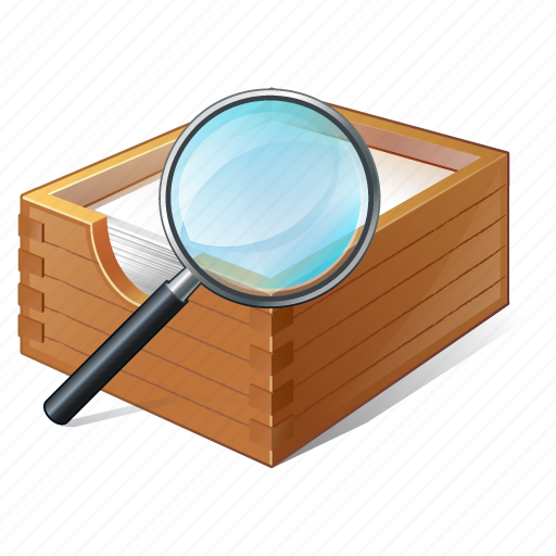 box, documents, office, paper, search2 icon