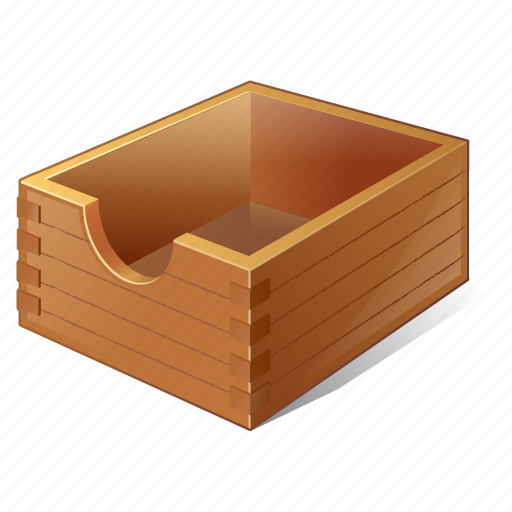 box, documents, empty, office, paper icon