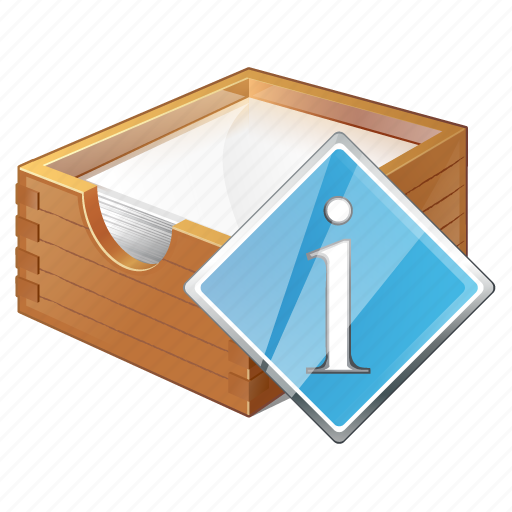 box, documents, info, office, paper icon