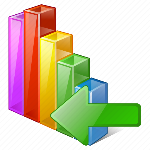 analytics, bar, chart, graph, import, statistics, stats icon