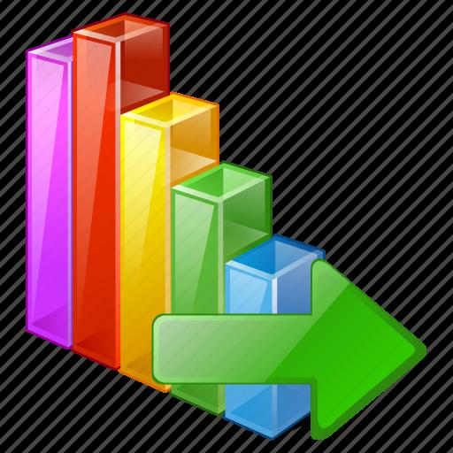 analytics, bar, chart, export, graph, statistics, stats icon