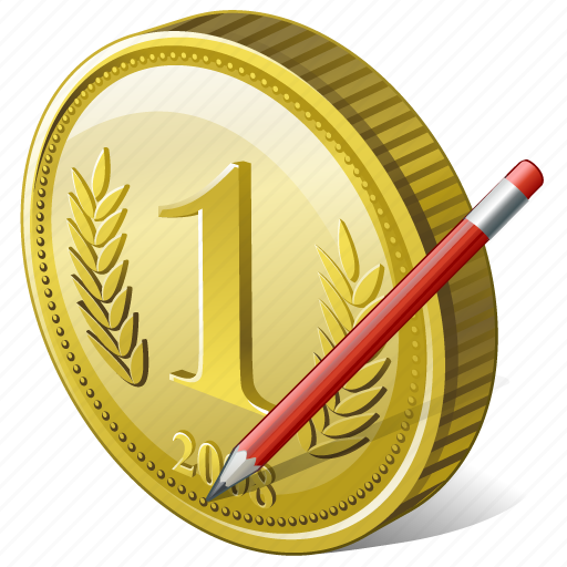coin, edit, money, payment icon