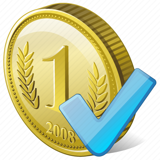 coin, money, ok, payment icon