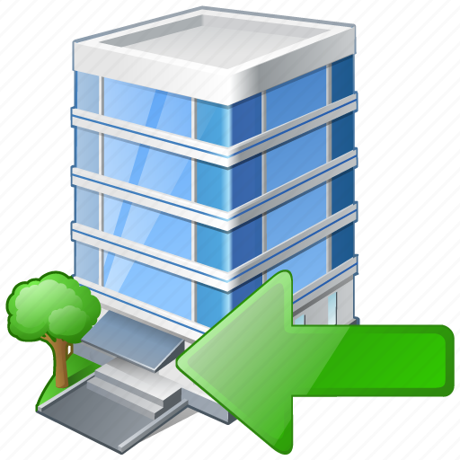 building, business, house, import, office icon
