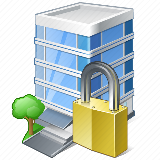building, business, house, locked, office icon