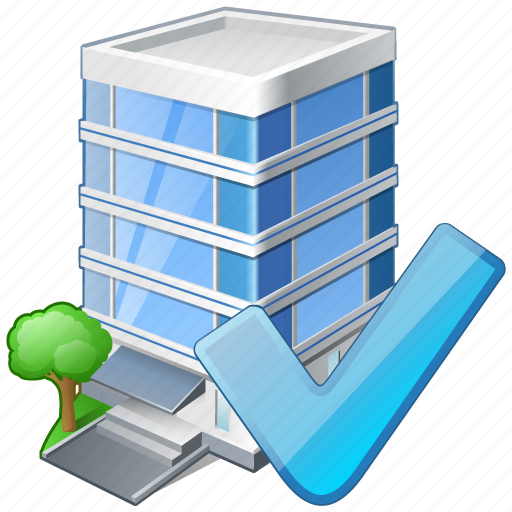 building, business, house, office, ok icon