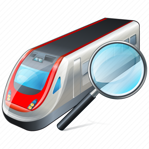 search, train, transport, travel icon