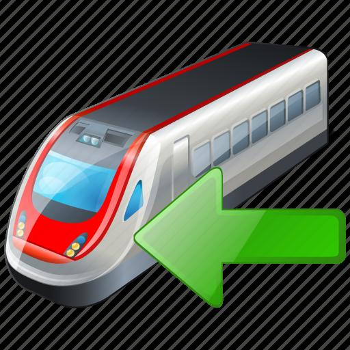 import, train, transport, travel icon