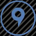 geo, location, navigation, point, pointer, tag, vk icon
