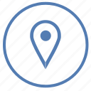 geo, location, map, pointer, position, tag, vk icon