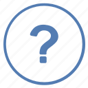 ask, logic, quest, question, round, vk icon