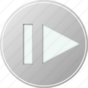 audio, grey, media, multimedia, music, voice icon