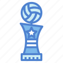 award, cup, trophy, volleyball