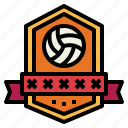 badge, competition, sports, volleyball