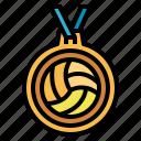 champion, medal, volleyball, winner