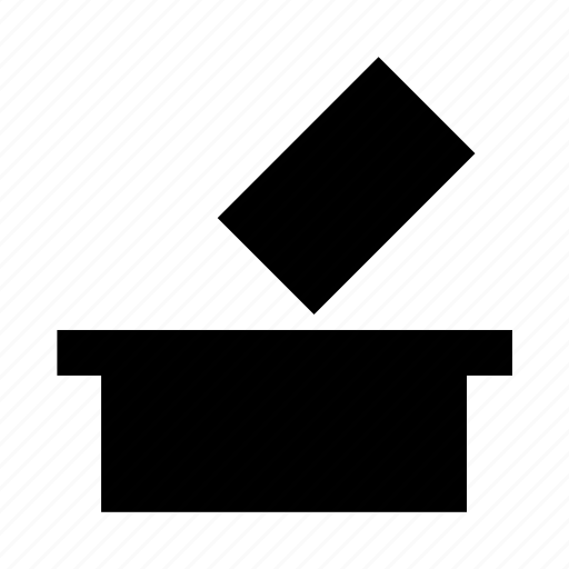 ballot box, politics, vote, vote casting, voting icon