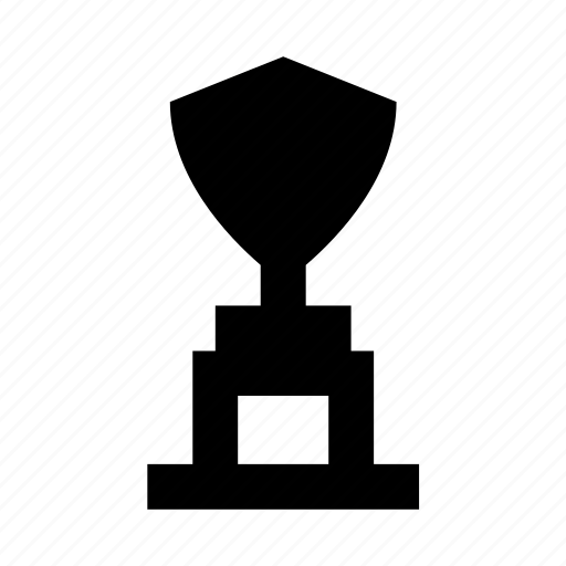 award, shield shaped trophy, success, trophy, victory icon