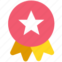 achievement, awards, badge, medal, winner icon