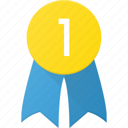 award, badge, first, reward, win icon