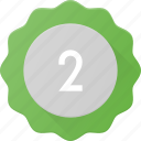 award, badge, place, reward, second, sticker icon