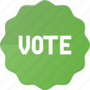 award, badge, reward, sticker, vote, voted icon