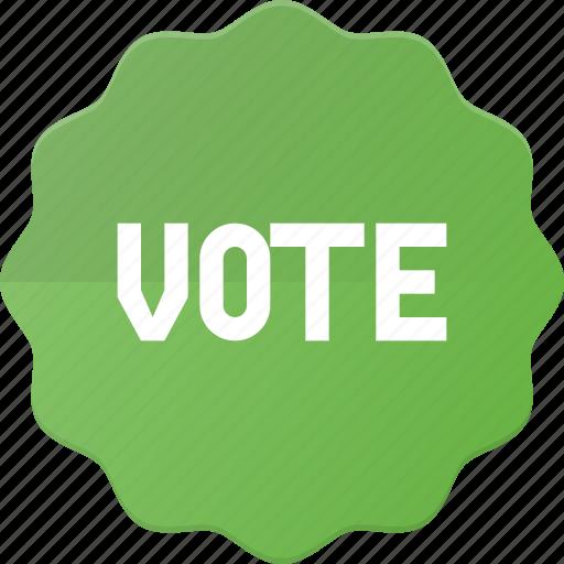 award, badge, reward, sticker, vote, voted icon