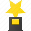 award, cup, first, reward, star, win icon