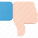 award, dislike, down, finger, gesture, reward icon