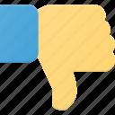 award, dislike, down, finger, gesture, reward icon