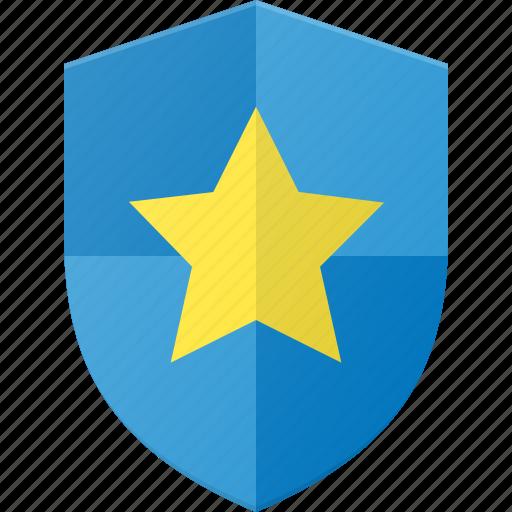 award, favorite, reward, shield, star icon