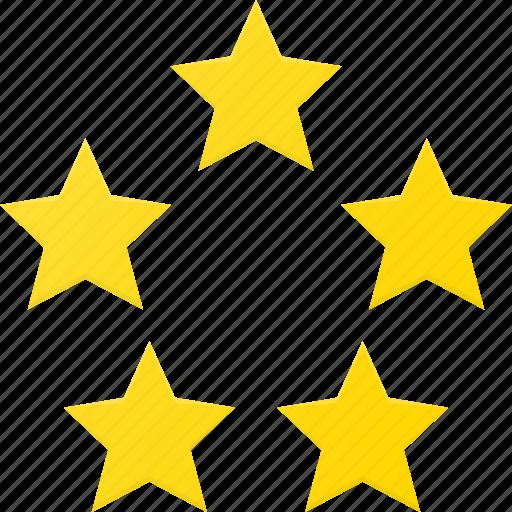 award, five, rating, reward, star, stars icon