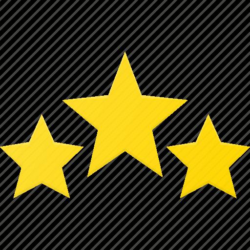award, rating, reward, star, stars, three icon