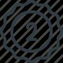 awward, badge, first, place, reward, sticker icon