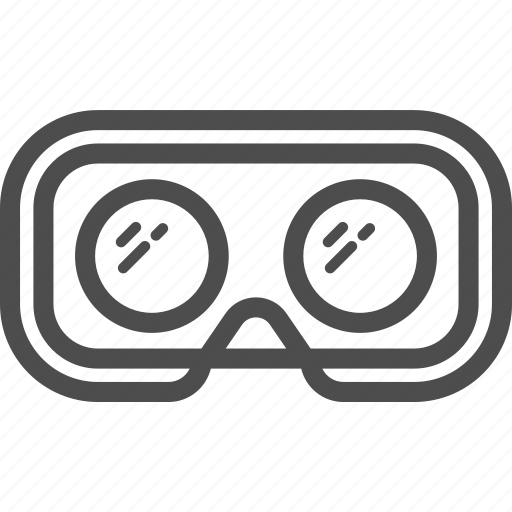 back, box, glasses, oculus, reality, virtual, vr icon