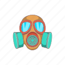 cartoon, chemical, gas, mask, military, protection, sign icon