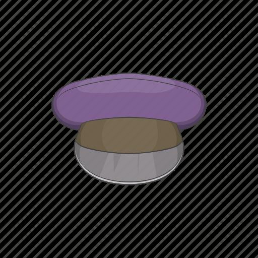 cap, cartoon, hat, head, sign, uniform, white icon