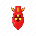 bomb, burst, cartoon, effect, nuclear, sign, warhead icon