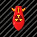 bomb, burst, cartoon, effect, nuclear, sign, warhead icon