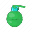 bomb, burst, cartoon, effect, fire, grenade, sign icon