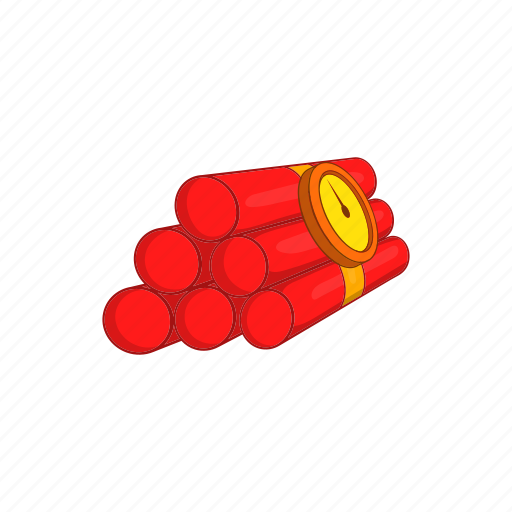 bomb, burst, cartoon, dynamite, effect, fire, sign icon