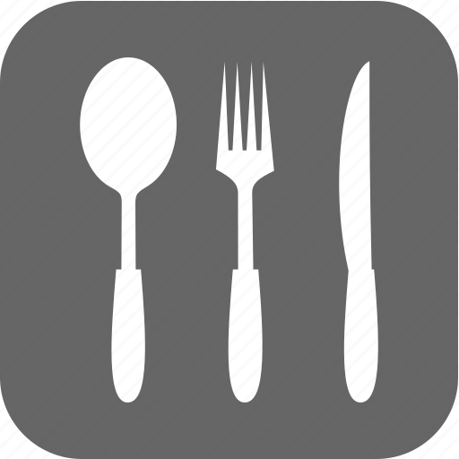 food, fork, kitchen, knife, meal, spoon, ware icon