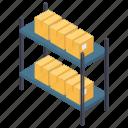pallet racks, storage equipment, warehouse racks, warehouse shelves, warehouse storage racks icon