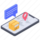delivery tracking, logistics service, online delivery tracking, online logistic, online package, shipping tracking icon