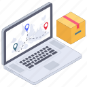 online delivery location, online logistic, online package, parcel delivery location, shipping location icon