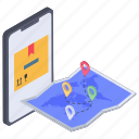 delivery route tracker, delivery tracking, location app, mobile route tracing, ruote tracking icon