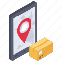 delivery location, delivery tracking, location app, logistics delivery, mobile delivery, package tracking icon