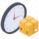 cargo time, clock delivery, clock shipping, delivery time, logistic time, logistics delivery time icon