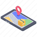 mobile app, mobile gps, mobile location, mobile tracker, tracking app icon