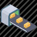 conveyor belt, conveyor device, conveyor system, logistic belt, machinery production icon