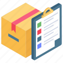 delivery checklist, delivery note, delivery order, delivery sheet, sales order icon